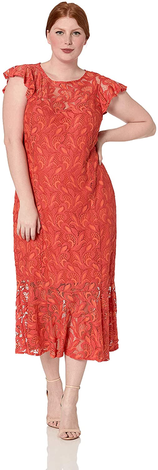 RACHEL Rachel Roy Women's Plus Size Annalee Lace Midi Dress