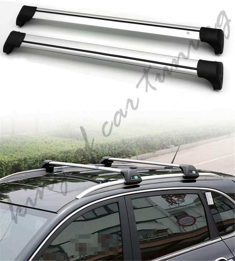 king of car tuning Ultra Quiet Silver Lockable Crossbar Cross Bar Roof Rail Luggage Rack Fits for Mercedes Benz GLC X253 2016-2019