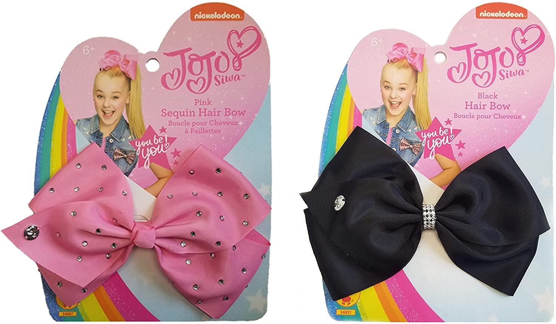 Rubie's Girls JoJo Siwa Bows Costume Accessory, Black and Pink, One Size