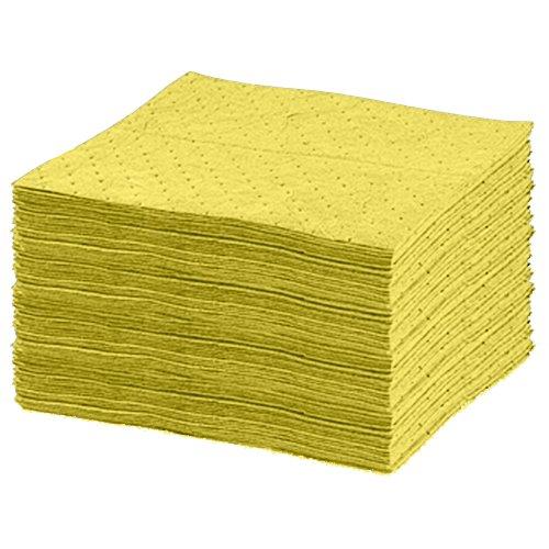 United Sorbents US-B-YM Bonded Sorbent Medium Pad, Universal, Hazmat Yellow (Pack of 100)
