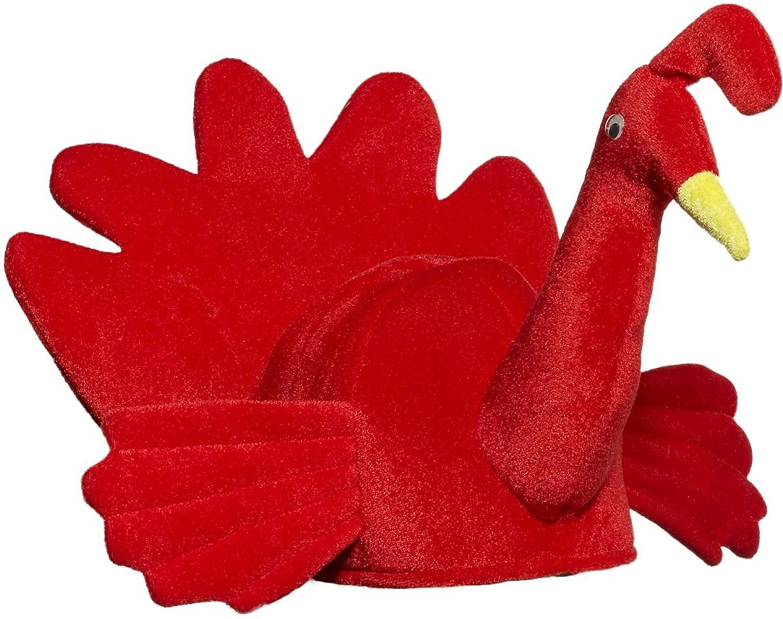 Forum Novelties Mens Plush Red Turkey Hat