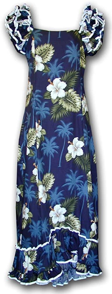Hawaiian Muumuu Hibiscus Island Long Style