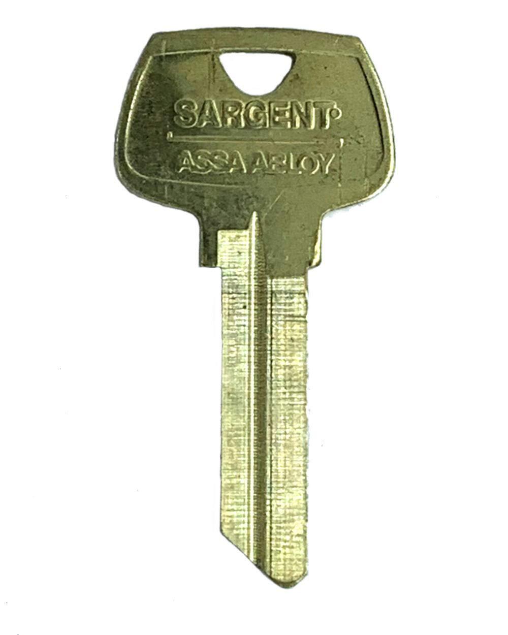 Sargent 6 Pin Key Blank 6275 RC Keyway, Pkg of 10, Factory Original