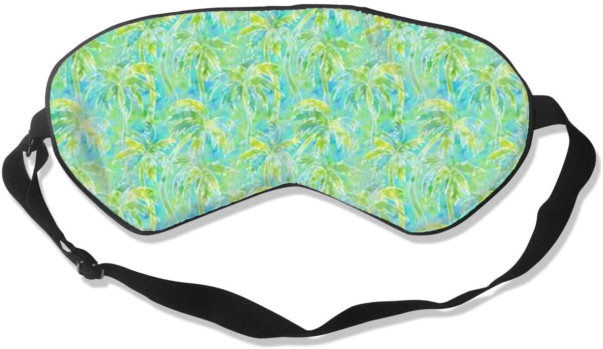 Sleep Eye Mask For Men Women,Watercolor Palm Tree Soft Comfort Eye Shade Cover For Sleeping