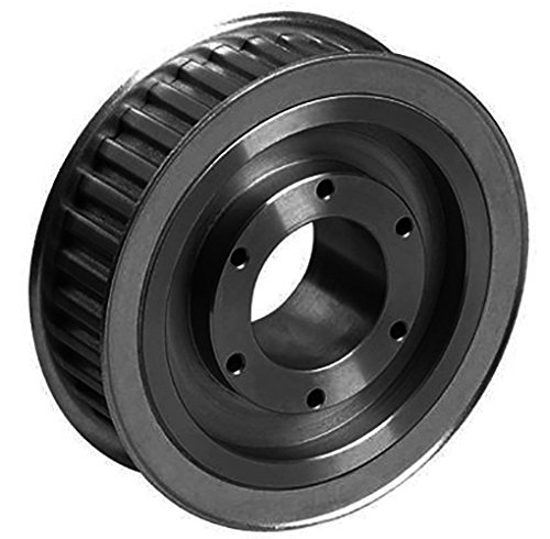 Ametric 8M38QD20.SH Solid Construction Cast Iron HTD Timing Pulley with flanges for QD Bush, For 8M Pitch X 20 mm Wide HTD Belt,Bored for SH QD Bush, 38 Teeth, 3.81 Inch Pitch Dia., 3.756 Inch Outside Dia.(OD), 1.125 Face Width(F), (1-009)