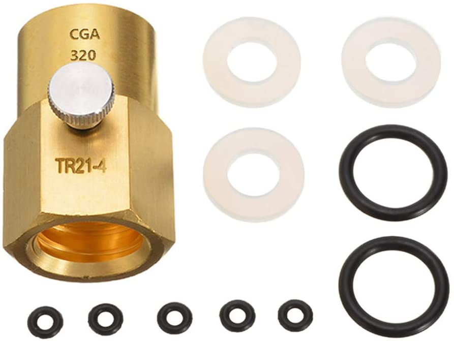 CABINA HOME G1/2'' Thread CO2 Filling Adapter Connector Tank Cylinder Kit for SodaStream