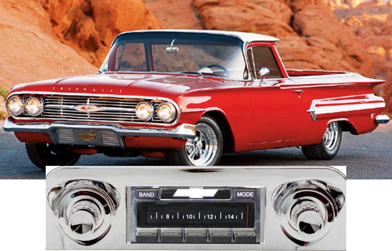 Custom Autosound Stereo compatible with 1959-1960 Impala and/or El Camino, USA-630 II High Power 300 watt AM FM Car Stereo/Radio