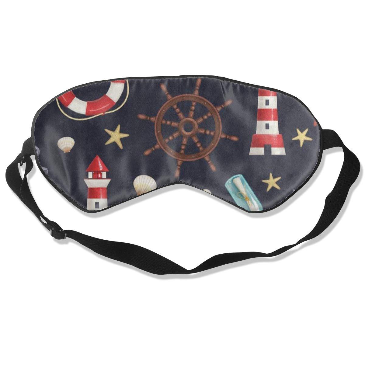 Custom Sleeping Mask Nautical Lighthouse Anchor Starfish Seashell Adjustable Breathable Sleep Mask/Sleeping Eyes Mask/Sleep Eyes Mask/Eyeshade/Blindfold