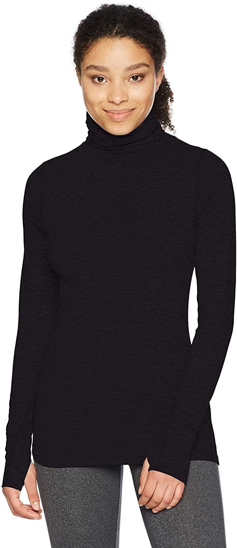 Terramar Womens Cloud Nine 4-Way Stretch Brushed Turtleneck Sweaters