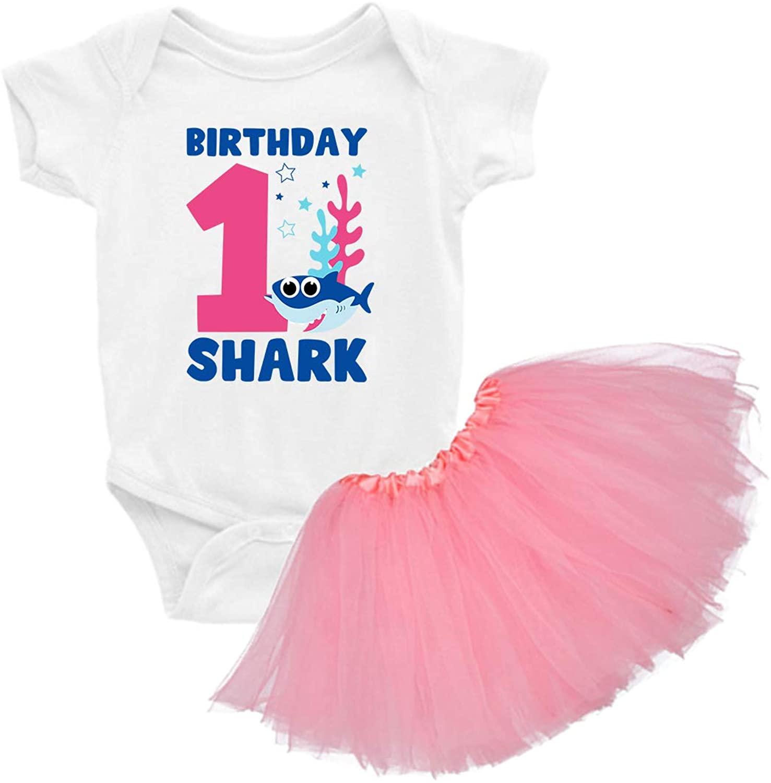 Awkward Styles 1st Birtday Shirt Shark Tutu Skirt Set Princess Dress First Birthday Outfit