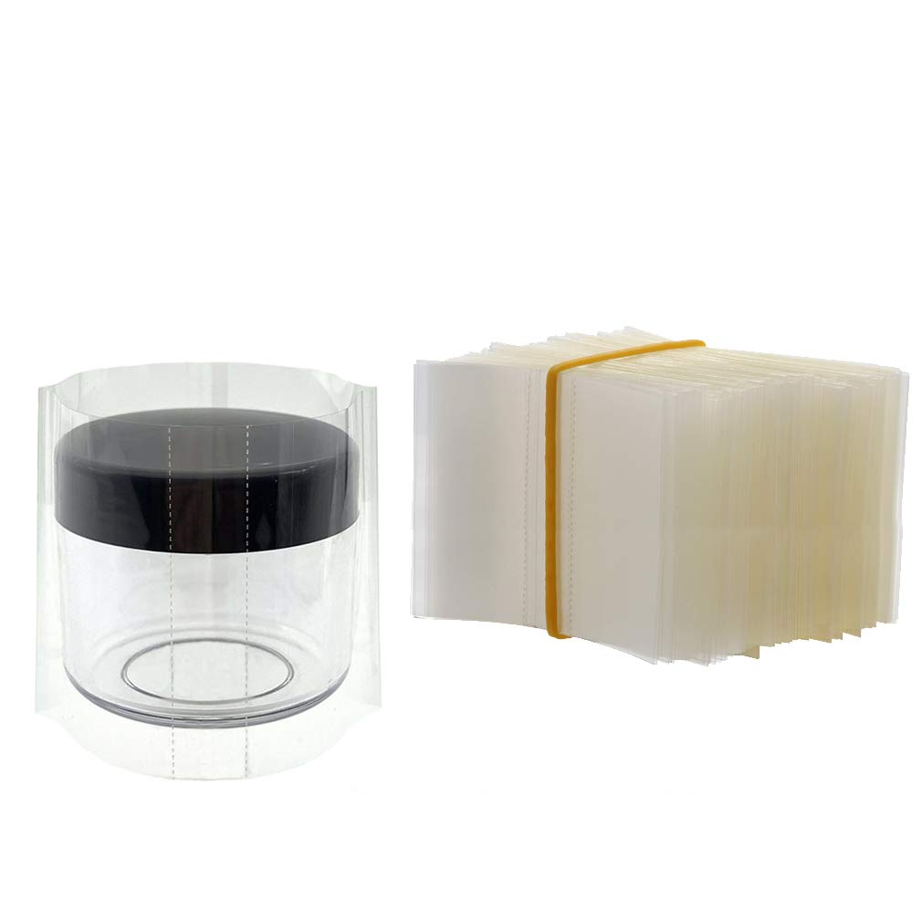 200Pcs Shrink Wrap for 10/15/20 Gram Container, Easy to Use, Make Products More Professional (For 15g container)