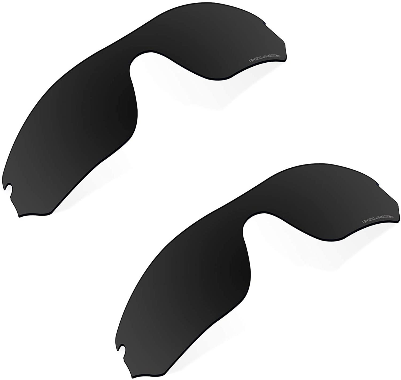 Polarized Replacement Lenses Compatible with Oakley Radar Edge Sunglass - Black+Black