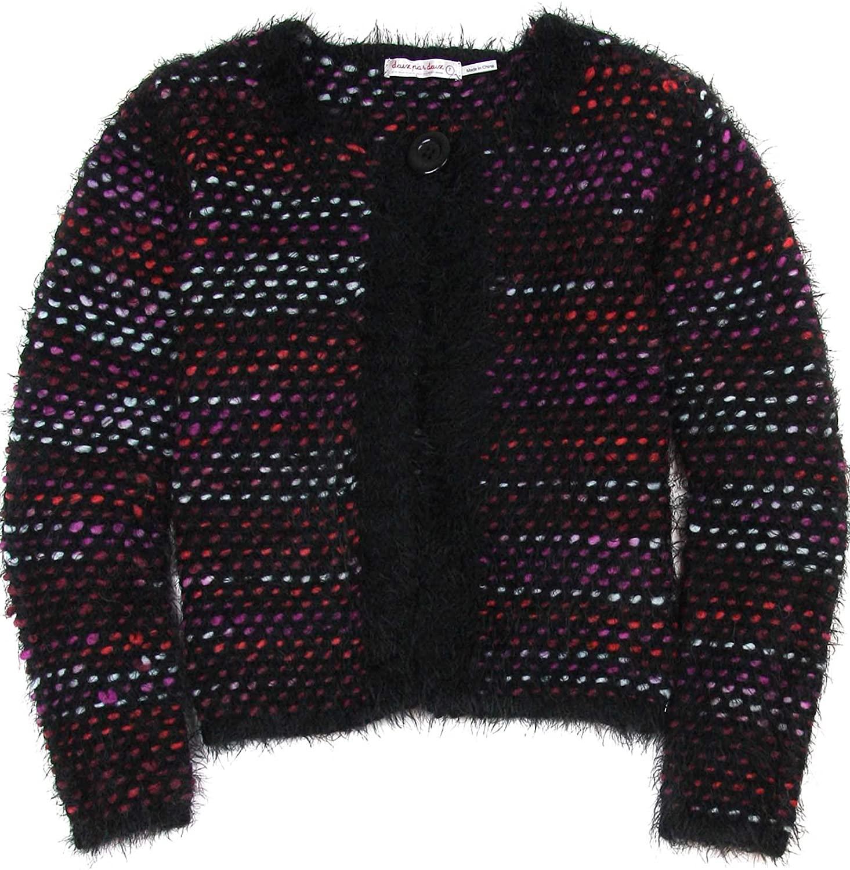 Deux par Deux Girls' Fluffy Knit Cardigan Bohemian Spirit, Sizes 7-12