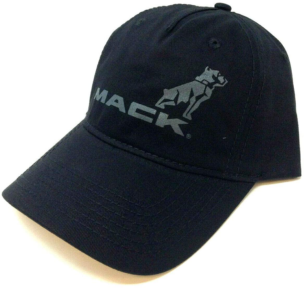Mack Black Trucks Bulldog Logo Slouch Curved Bill Adjustable Hat