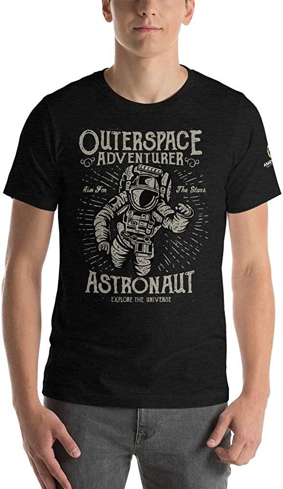 AnarchoCoffee Outer Space Adventurer Short-Sleeve Unisex T-Shirt Black Heather