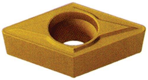 Cobra Carbide 40454 Solid Carbide Turning Insert, CM02 Grade, Multilayer Coated, DCMT Style, cm Chipbreaker, DCMT 21.52, 3/32