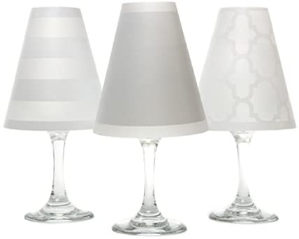 di Potter WS133 Nantucket Paper White Wine Glass Shade, White (Pack of 6)