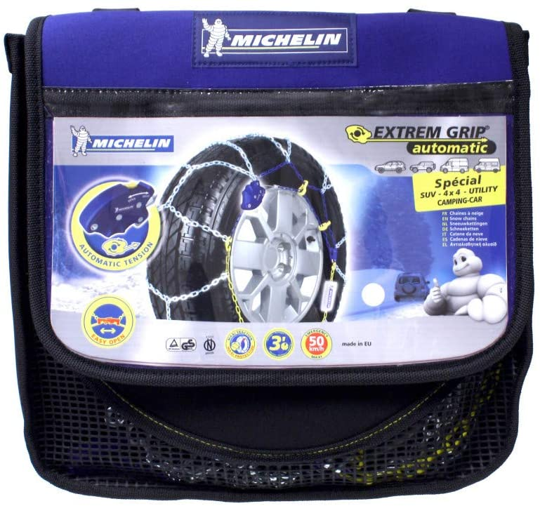 MICHELIN 007879 Snow Chains Extreme Grip Automatic 4 x 4, 2 Pieces