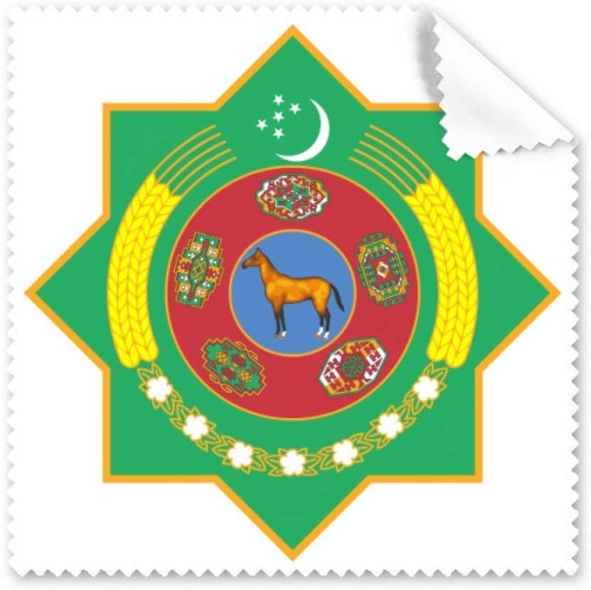 Turkmenistan Asia National Emblem Cleaning Cloth Phone Screen Glasses Cleaner 5pcs