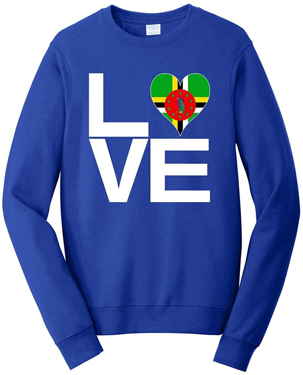 Tenacitee Unisex Love Block Dominica Heart Sweatshirt