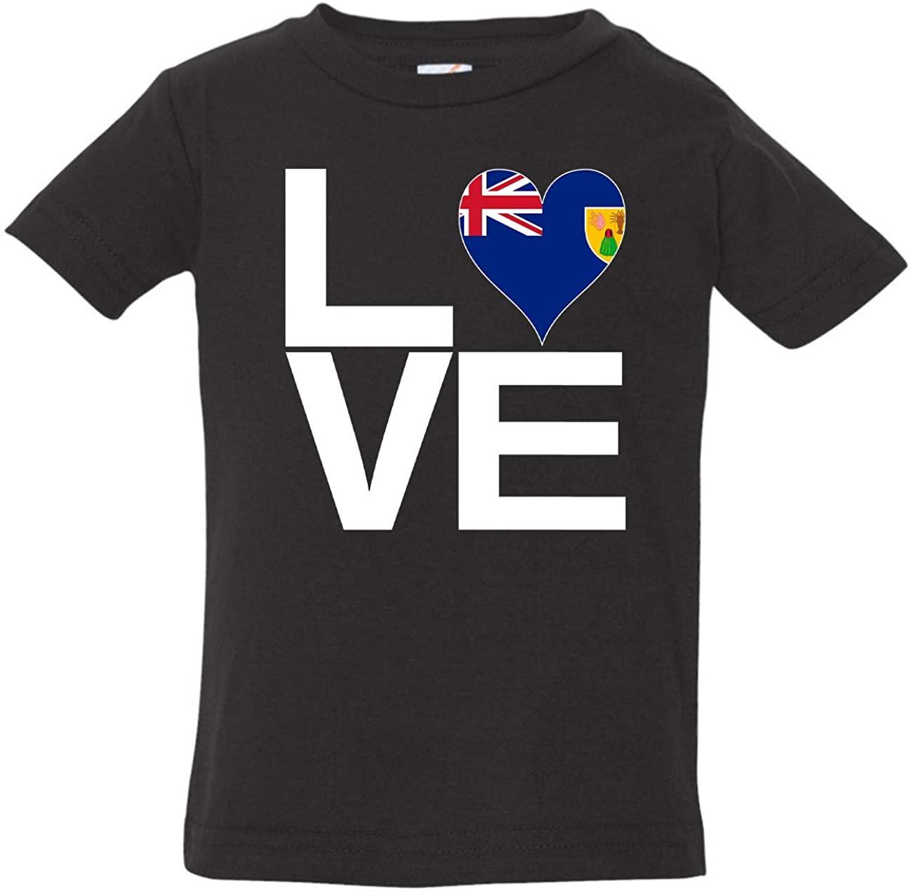 Tenacitee Baby's Love Block Turks and Caicos Islands Heart Shirt