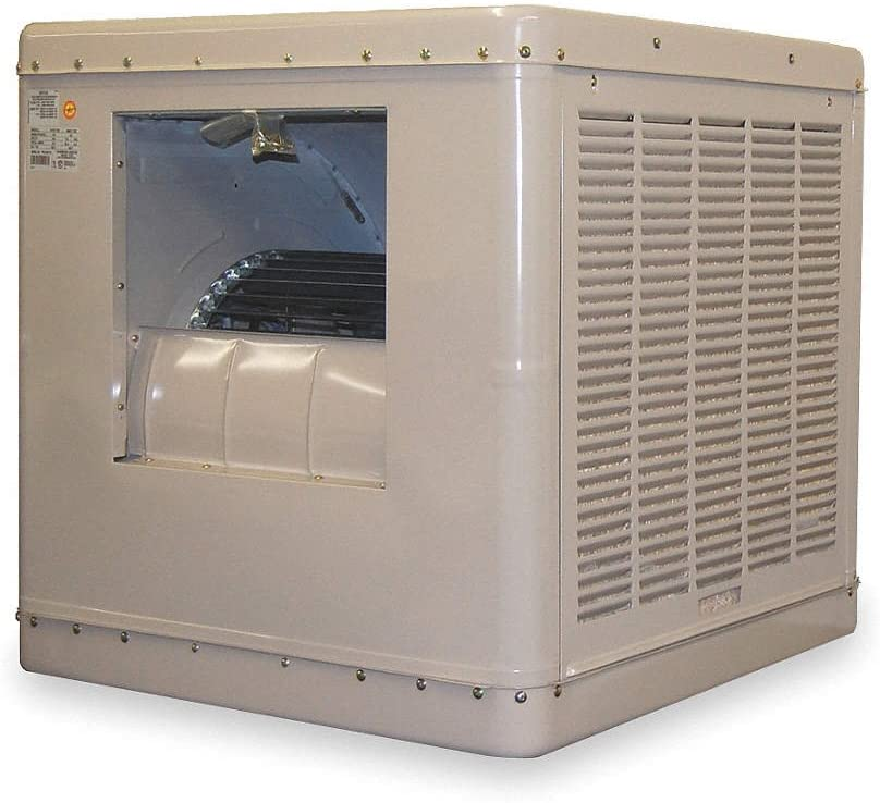 5500 cfm Ducted Evaporative Cooler, 1/2 hp, 16.4 gal.