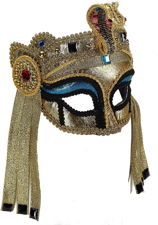 Forum Novelties Women's Deluxe Egyptian Mask with Eyeglass Arms
