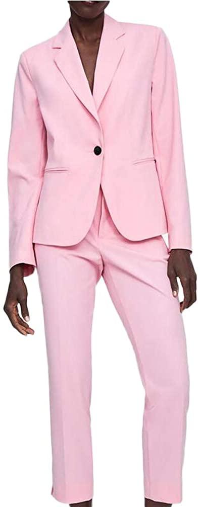 TOPG Women's 2 Pieces Notch Lapel Slim Fit One Button Business Suit Wedding Suit Casual Women Suit