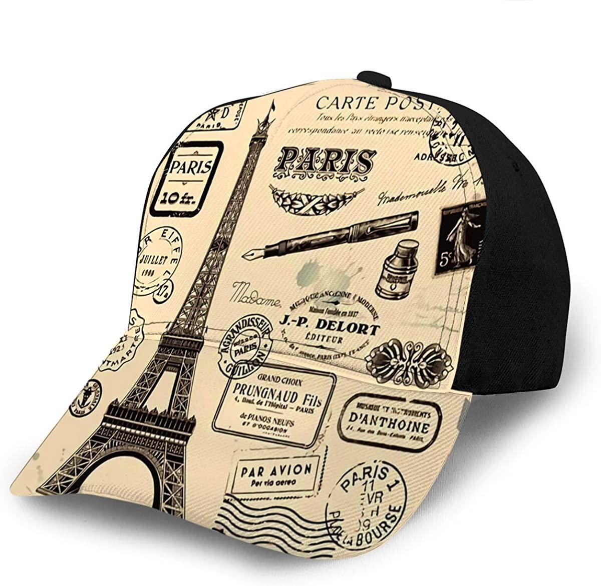 Baseball Caps Hats Collection of Paris Postage Design Elements Sports Cap Champi