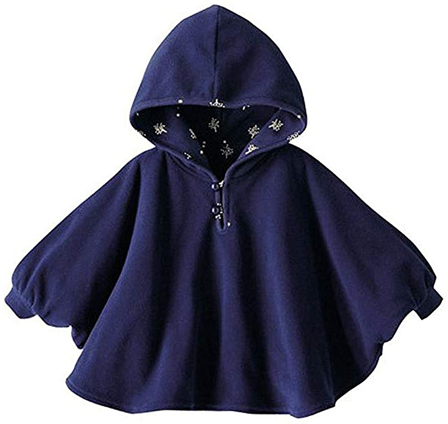 TSWRK Baby's Double-Side Wear Cape Coat Snowsuit Warm Poncho for Girls Boys Toddlers(0-3Years)