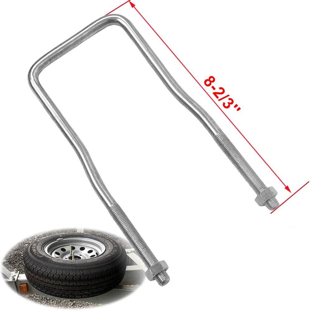Lonwin U-Bolt Tire Carrier Holder Bracket Side Mount 4 or 5 Lug