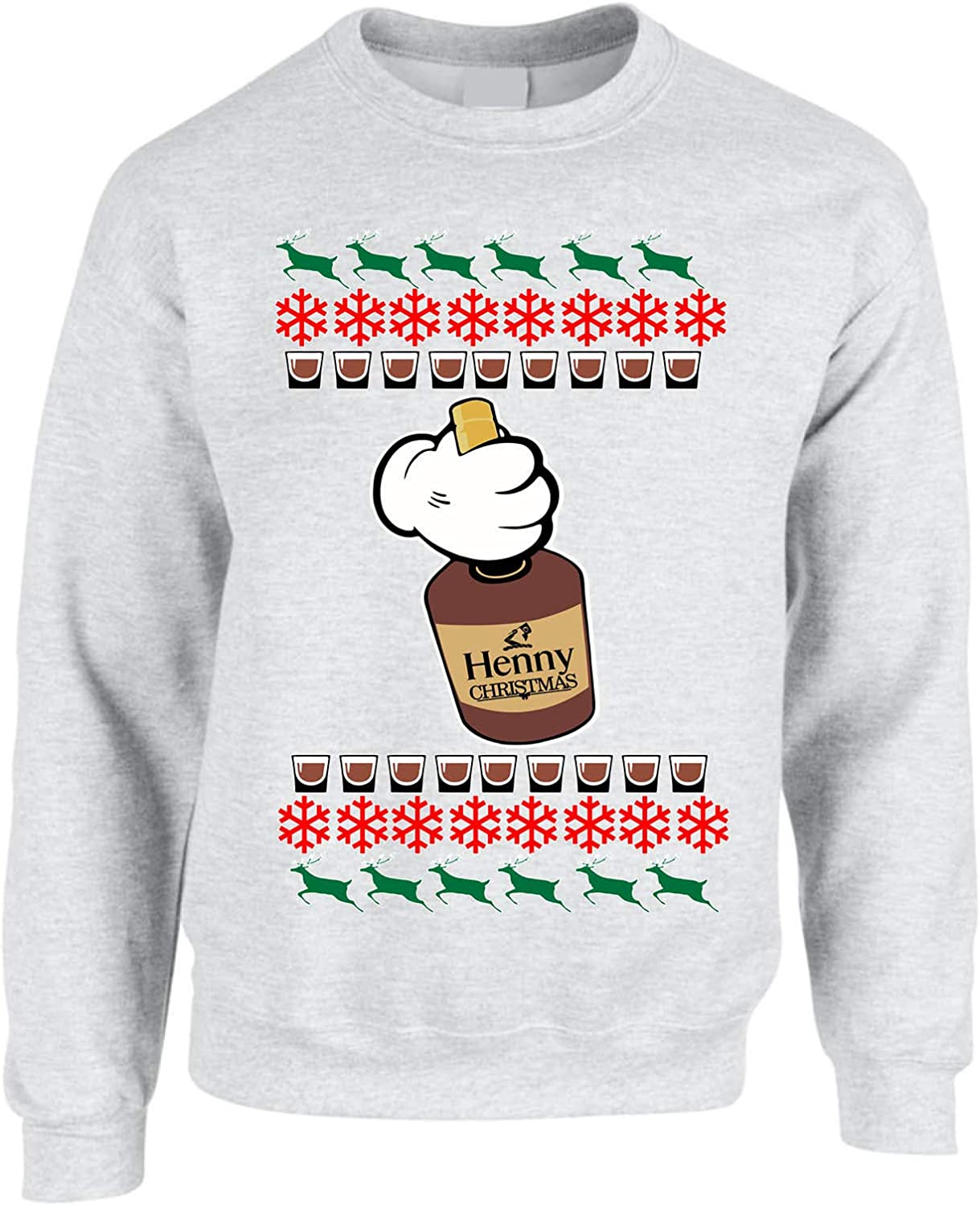 ALLNTRENDS Adult Sweatshirt Henny Christmas Ugly Xmas Sweater Cozy