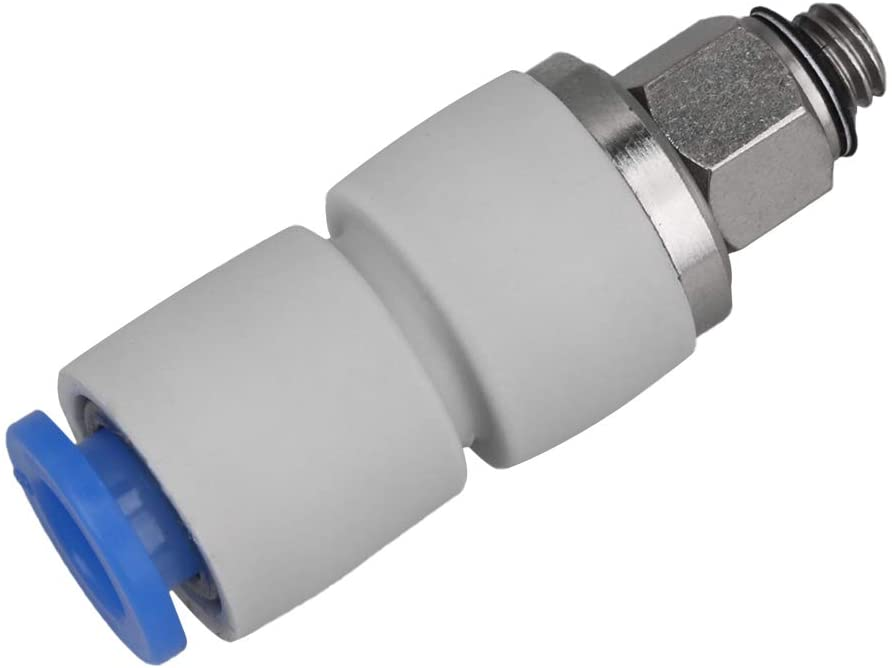 Mxfans 6mm Tube Straight Push In Joint Pneumatic Connector Fittings M5 Threaded