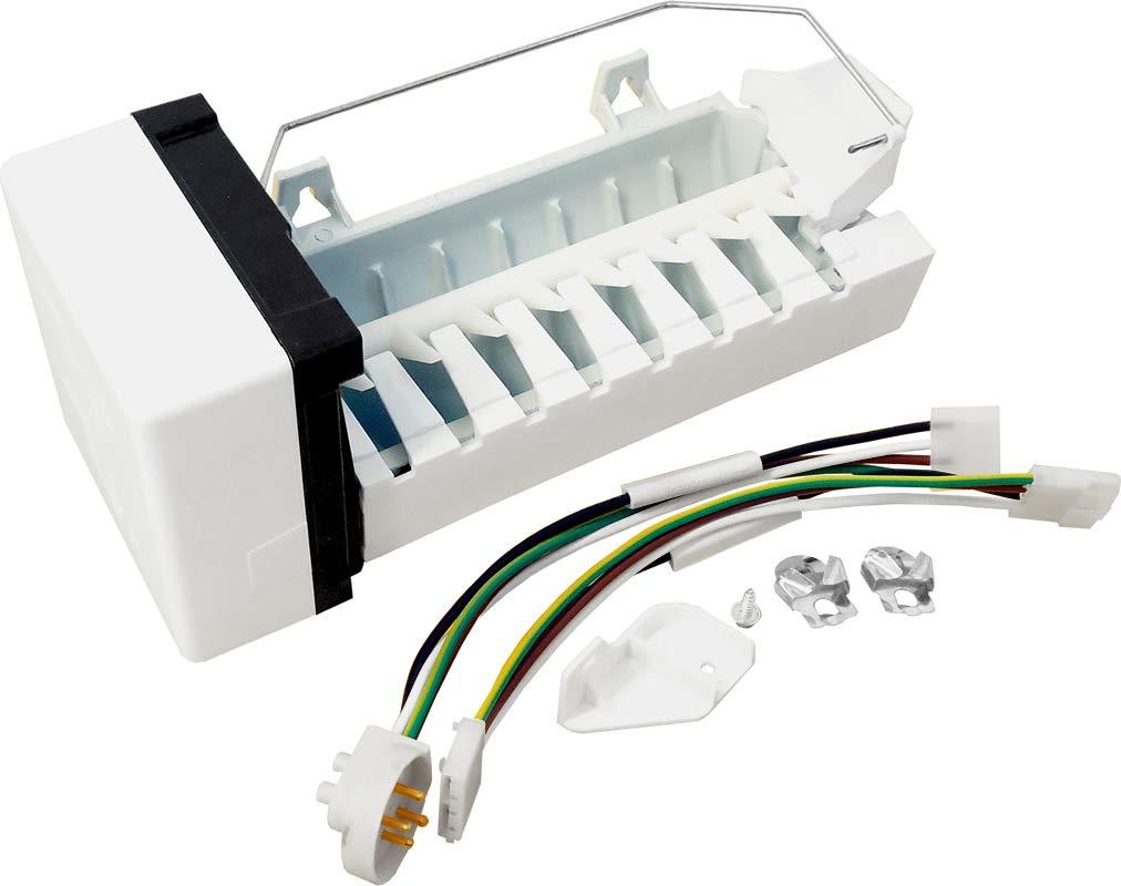 ClimaTek Upgraded Refrigerator/Freezer Icemaker & Harness for Whirlpool AMKIT97