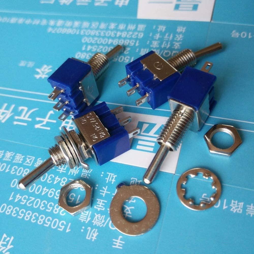 10pcs Mini MTS-102 3-Pin ON-ON 6A 125VAC Toggle Switches