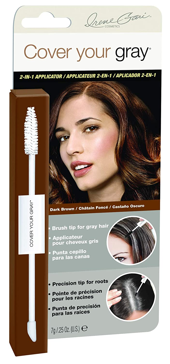 Cover Your Gray 2-in-1 Mascara Wand & Sponge Tip Applicator - Dark Brown