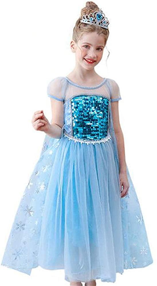 Tetorak Princess Dresses Little Girls Party Costume Cosplay Dress up for Toddler 2-13 T