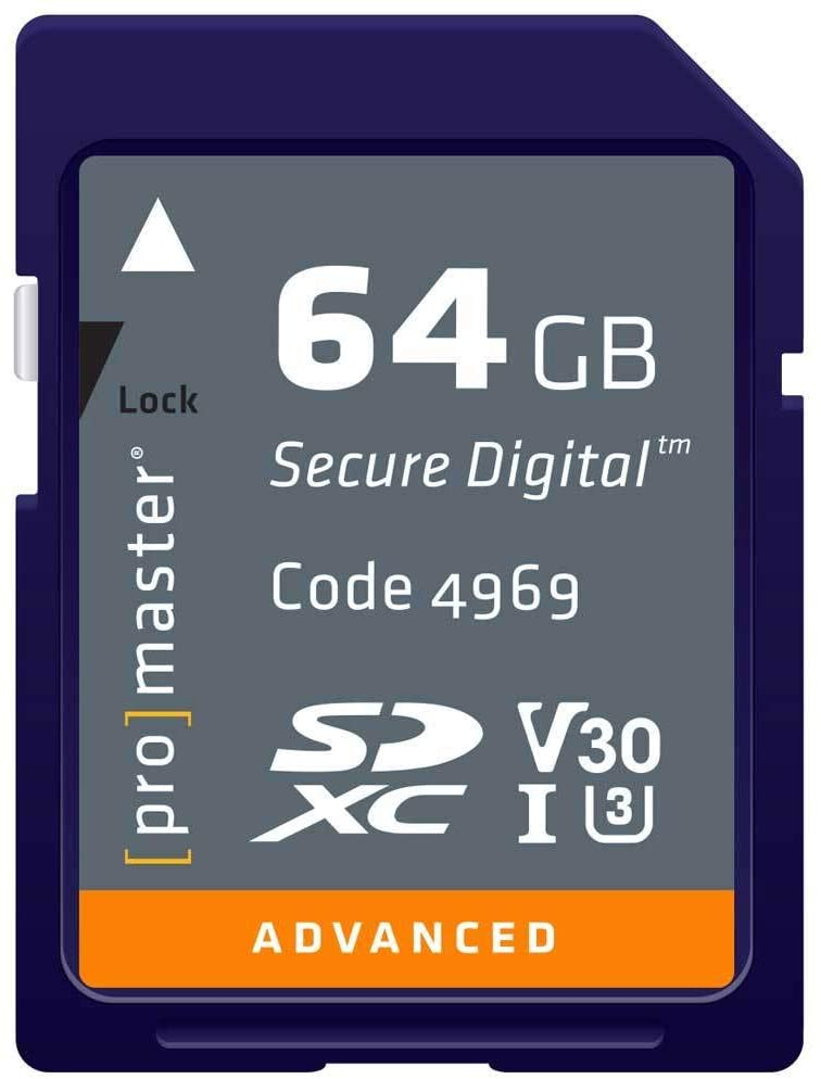 Promaster ADVANCED SDHC 64GB Memory Card 633X U3 V30