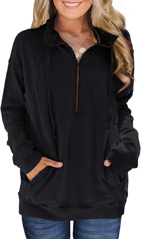 LOLONG Womens Long Sleeve Pullover Sweatshirt with Pockets Soft Lightweight Tops