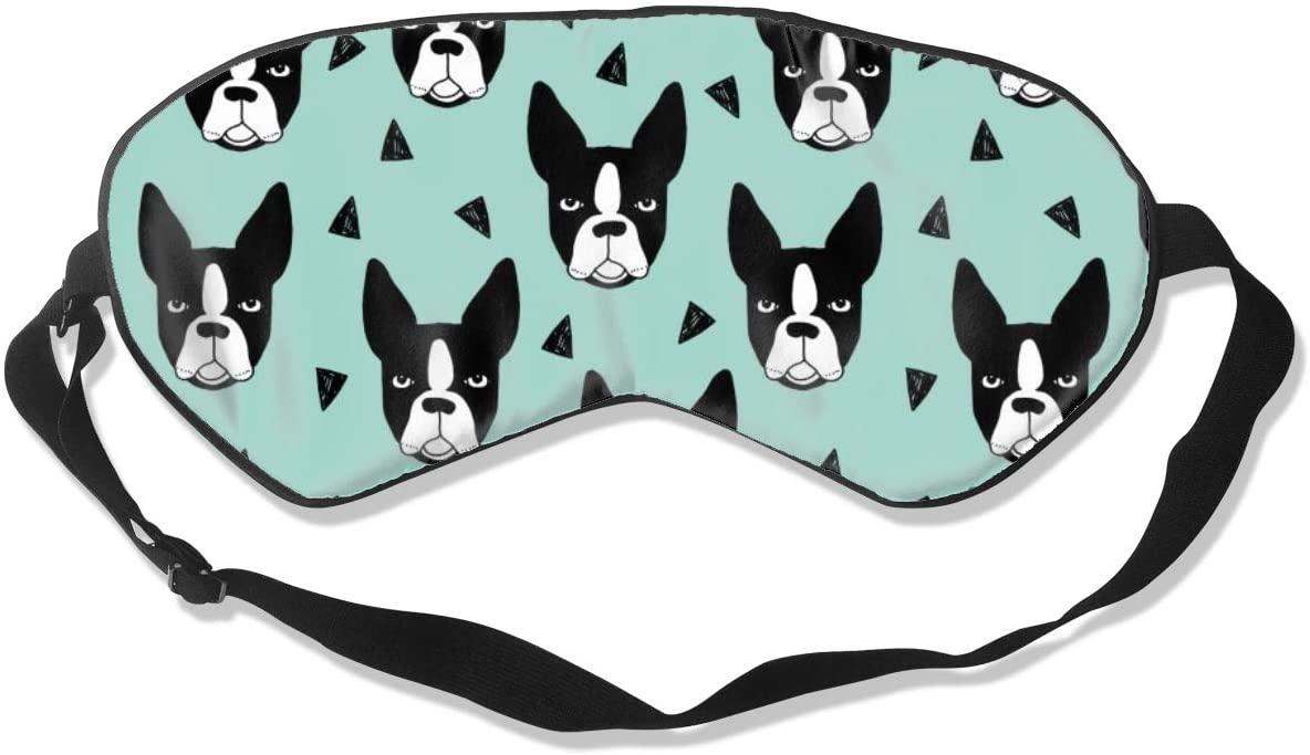 Boston Terrier French Bulldog-1 Eye Mask Sleeping Mask 100% Double-Sided Silk Eyeshade Eye Cover