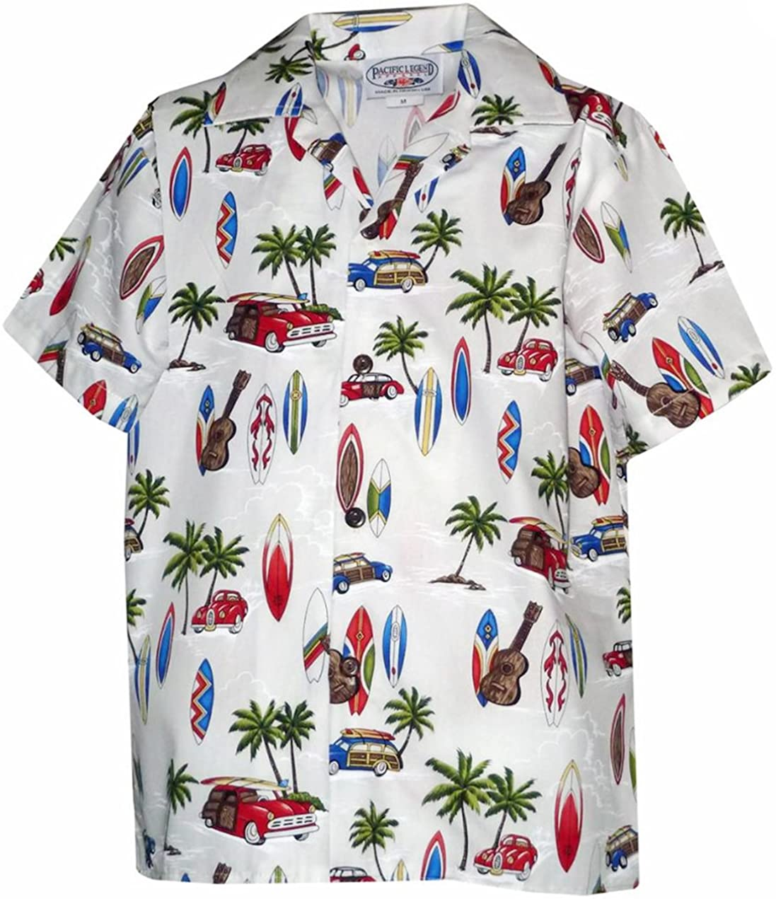 Pacific Legend Boys Woodie Surfboard Outing Shirt