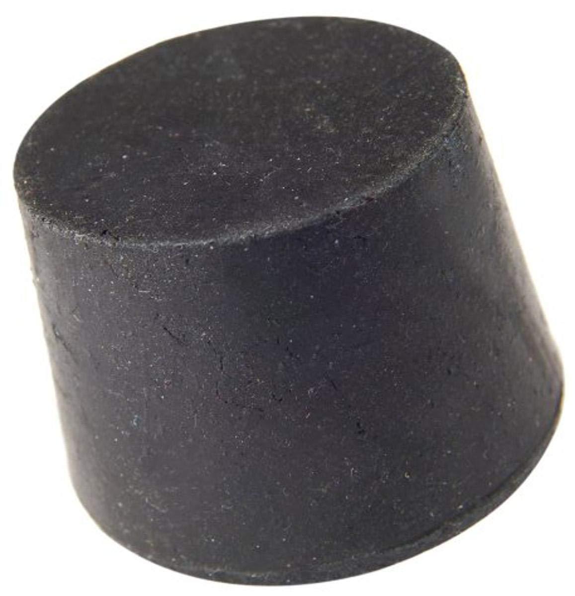 Plasticoid H5.5M290 Black Rubber Solid Stopper, 28mm Top Diameter, 24mm Bottom Diameter, 5.5 Size, 25mm Length