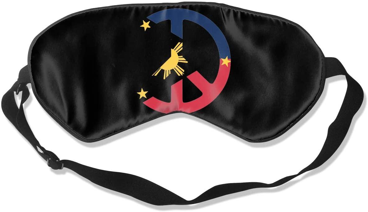 Peace Philippines Flag Eye Mask Sleeping Mask 100% Double-Sided Silk Eyeshade Eye Cover