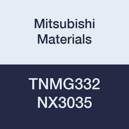 Mitsubishi Materials TNMG332 NX3035 Uncoated Cermet TN Type Negative Turning Insert with Hole, Triangular, 0.375