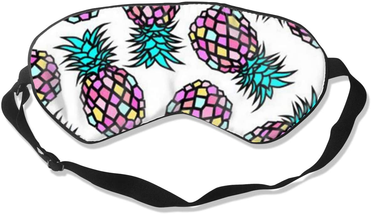 Sleep Eye Mask For Men Women,Pineapple Art Soft Comfort Eye Shade Cover For Sleeping