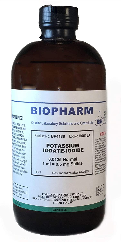 Potassium Iodate-Iodide 0.0125 Normal (1 Pint)