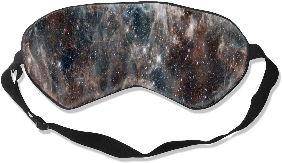 Sleep Mask Eye Blindfold Colorful Night Sky Space Eye Mask Eye Cover Eyeshade Adjustable Blindfold Sleeping Mask for Men Women Lightweight