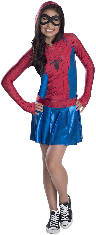 Rubies Marvel Classic Child's Spider-Girl Hoodie Costume Dress, Medium