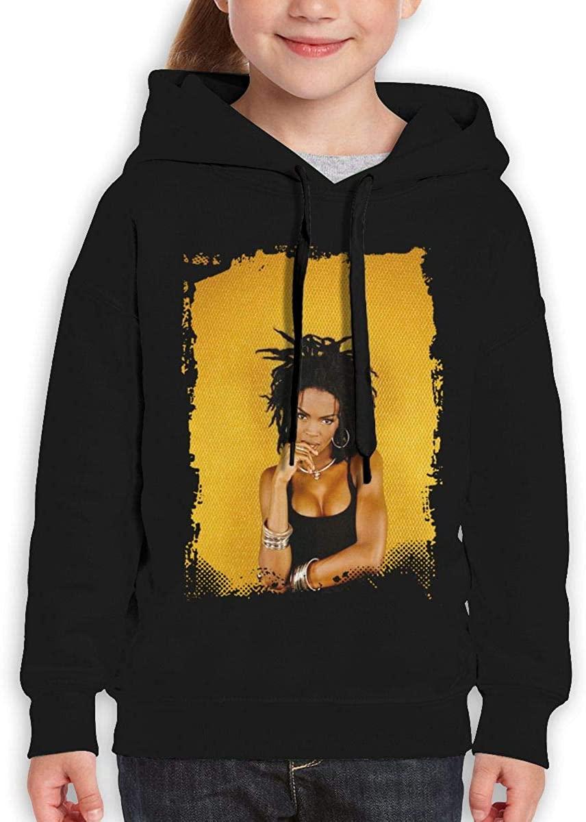 Nanatang Lauryn Hill Boys Girls Teenager Thin Long Sleeve Hoodies Simple Black