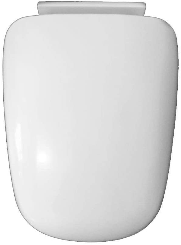 Seats Toilet Seat with Pp Board Slow Down Mute Ultra Resistant Easy to Clean Bottom Mounted Toilet Lid for Trapezoid Toilet Seat,White,40~4434Cm
